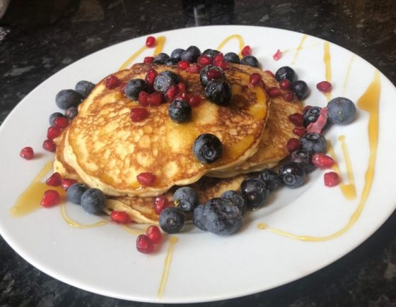 Pancakes with Fresh Fruit